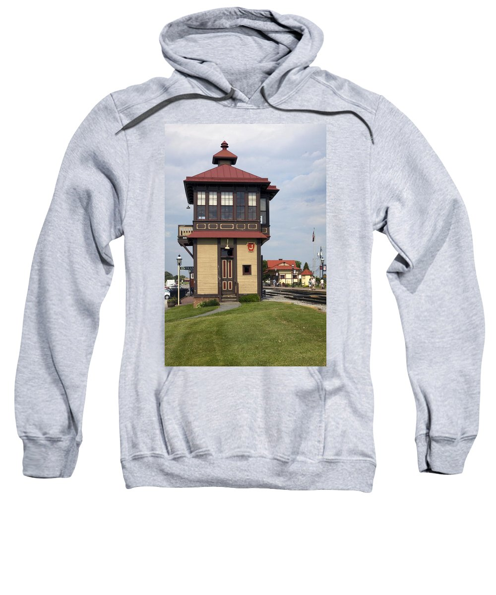 Historic Switch Tower Sweatshirt featuring the photograph Switch Tower by Sally Weigand