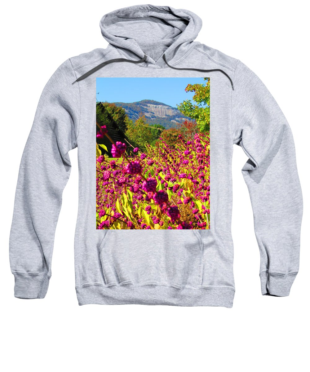 Table Rock Sweatshirt featuring the photograph Table Rock by Ginger Adams