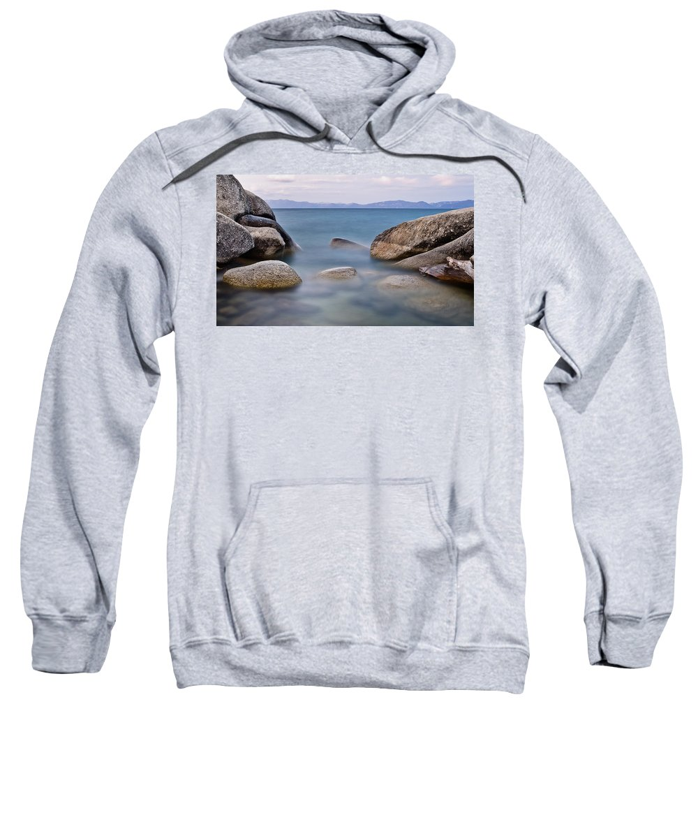 Sierra Nevada Sweatshirt featuring the photograph Tahoe Rocks by Greg Nyquist