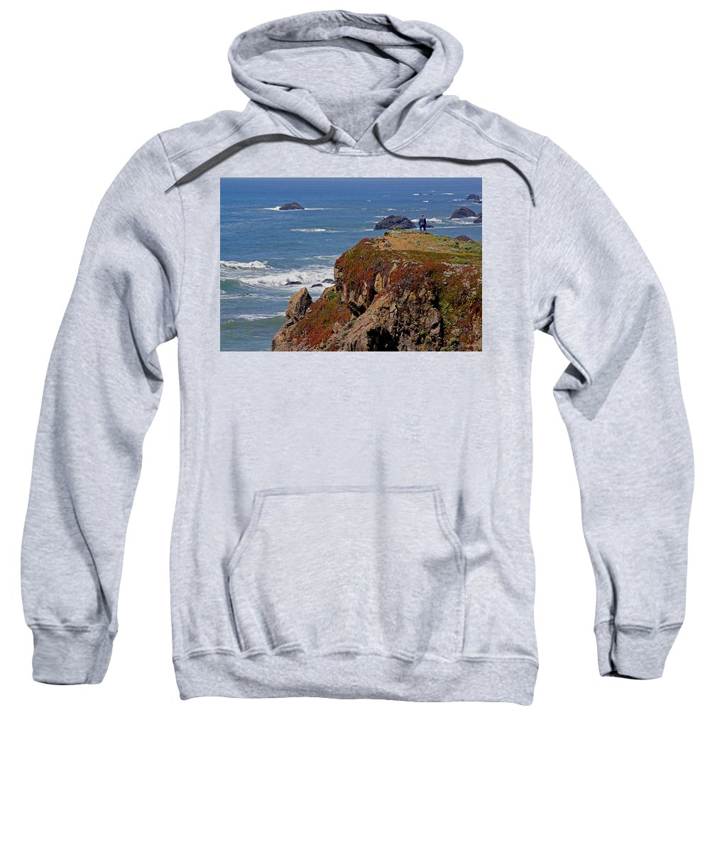 Highway 1 Sweatshirt featuring the photograph Taking In The View by Mick Anderson