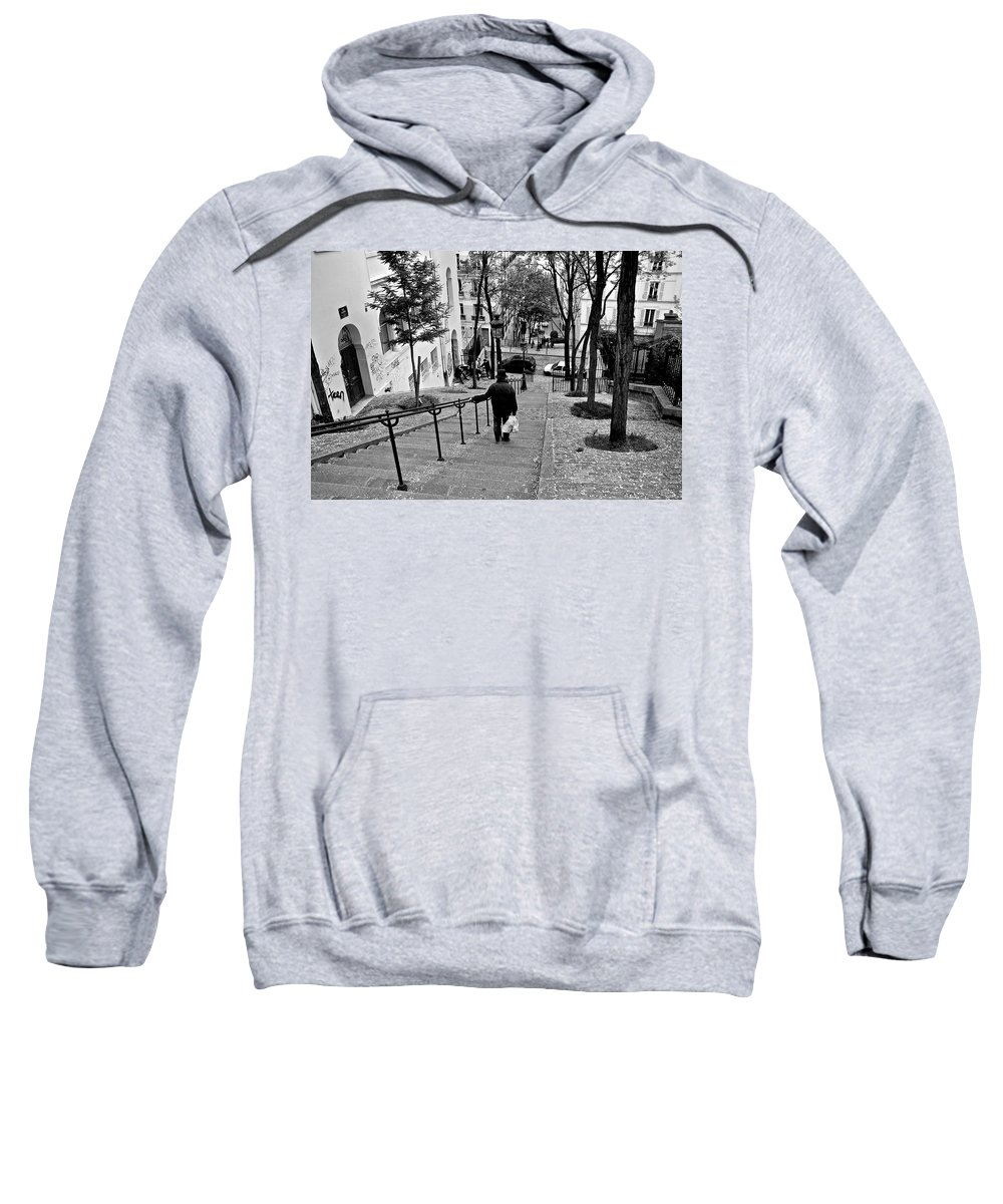 Paris Sweatshirt featuring the photograph Taking The Stairs by Eric Tressler