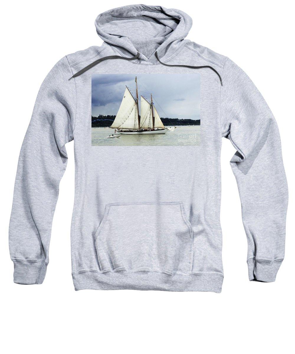 Tall Ship Sweatshirt featuring the photograph Tall Ship Tacoma by Bob Christopher