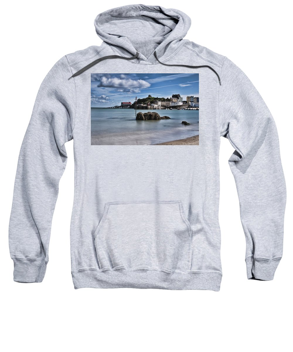 Tenby Harbour Sweatshirt featuring the photograph Tenby Harbour 1 by Steve Purnell