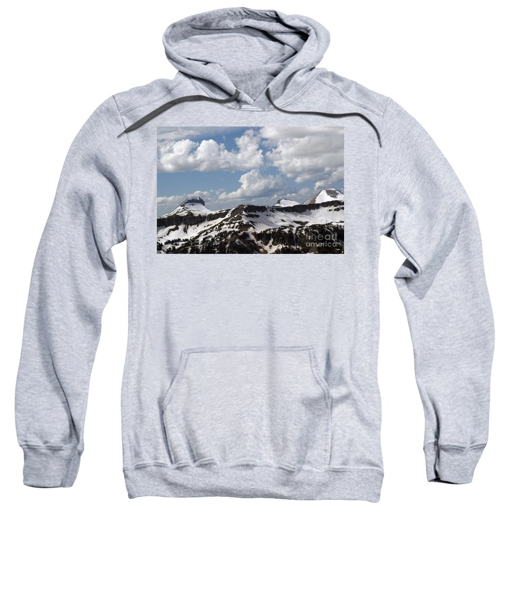 Rendezvous Mountain Sweatshirt featuring the photograph Teton Range by Living Color Photography Lorraine Lynch