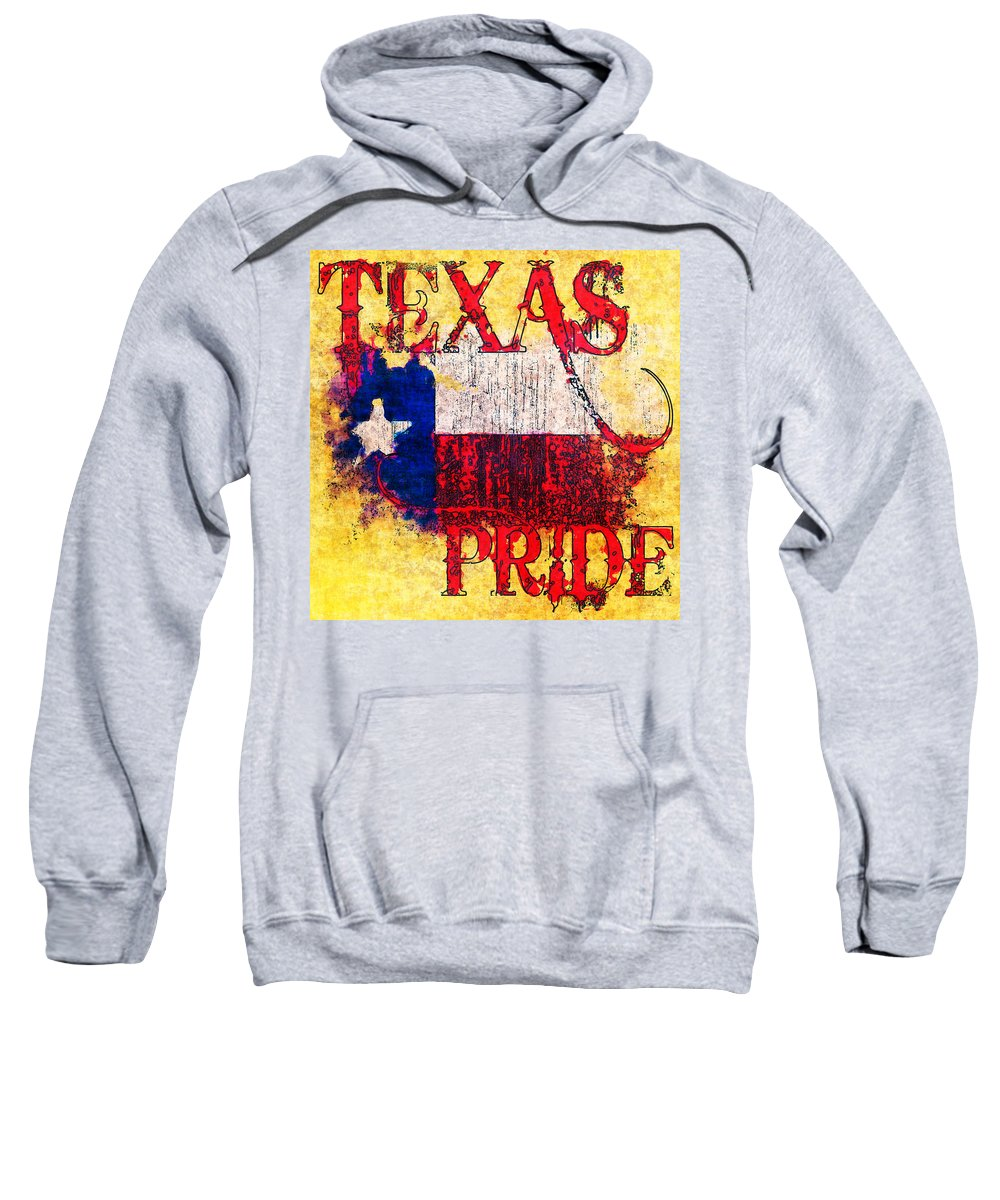 Texas Sweatshirt featuring the photograph Texas Pride by David G Paul