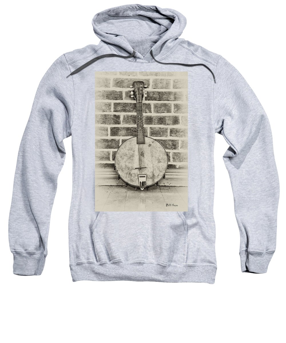 That Old Banjo Mandolin Sweatshirt featuring the photograph That Old Banjo Mandolin by Bill Cannon