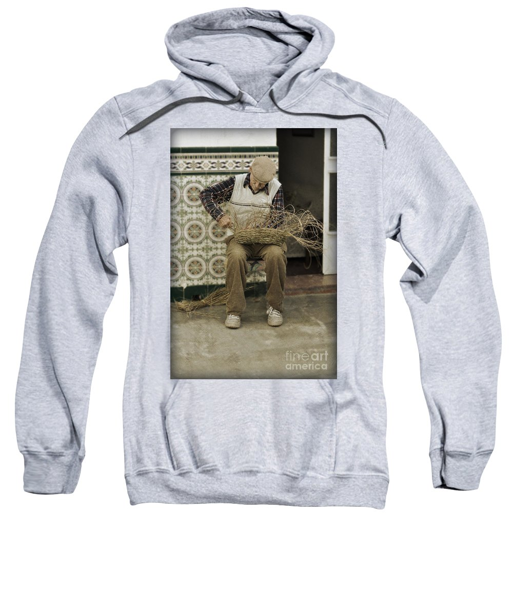 The Basket Maker Sweatshirt featuring the photograph The Basket Maker by Mary Machare