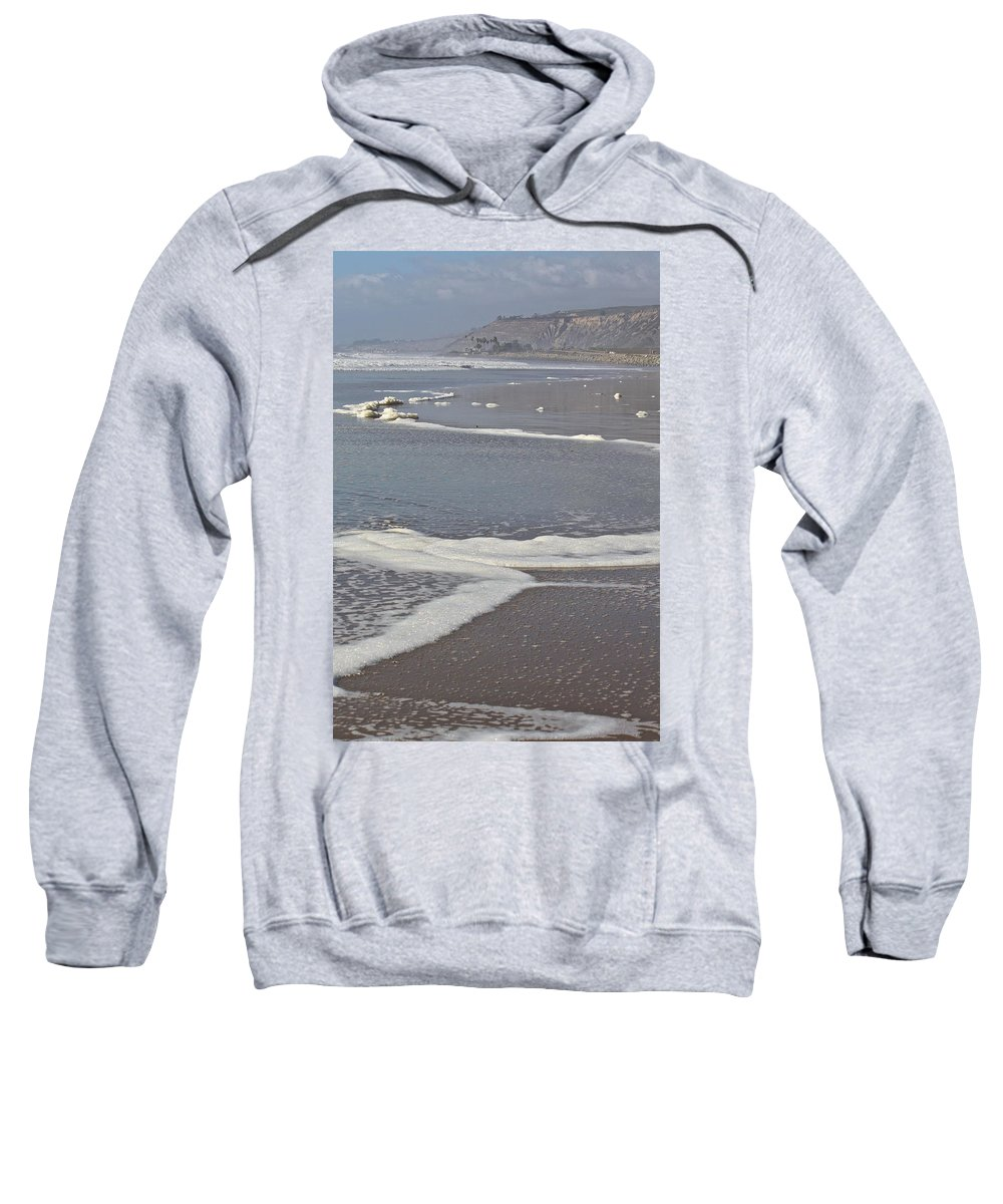 Beach Sweatshirt featuring the photograph The Beach In January by Diana Hatcher