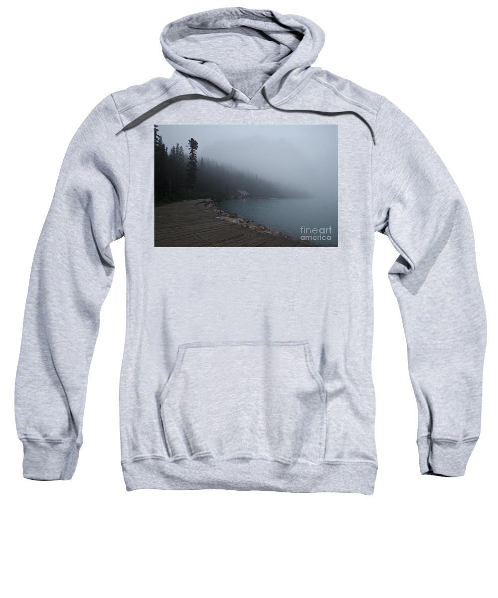 Canada Sweatshirt featuring the photograph The Boathouse by Dennis Hedberg