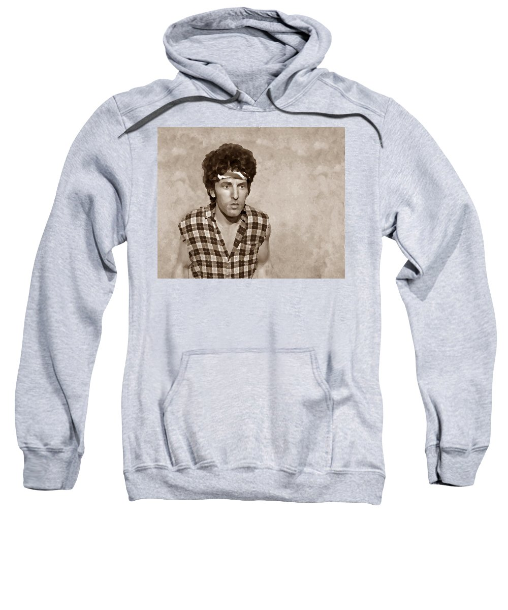 Bruce Springsteen Sweatshirt featuring the photograph The Boss S by David Dehner