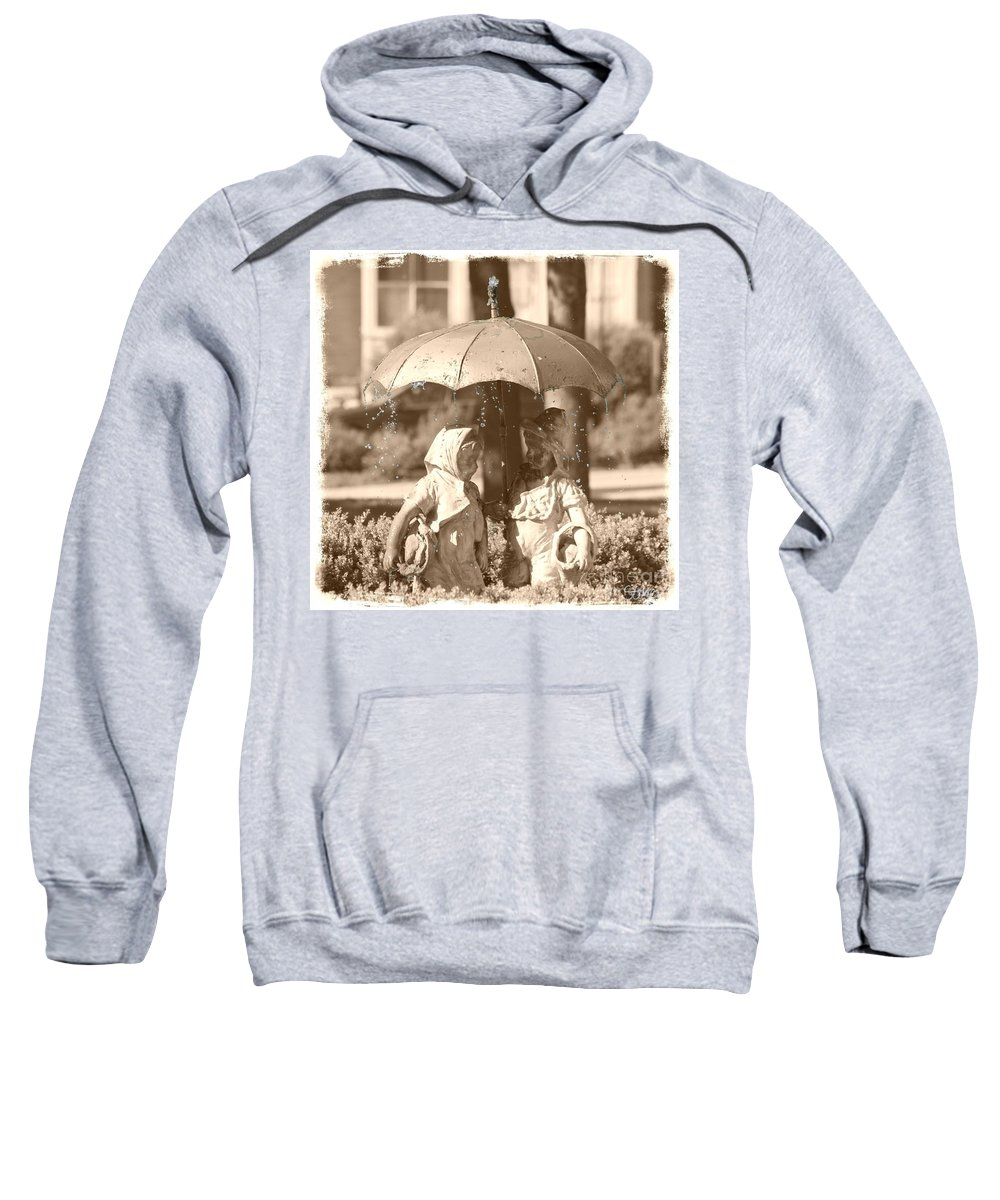 Steele Sweatshirt featuring the photograph The Carnegie Kids by September Stone