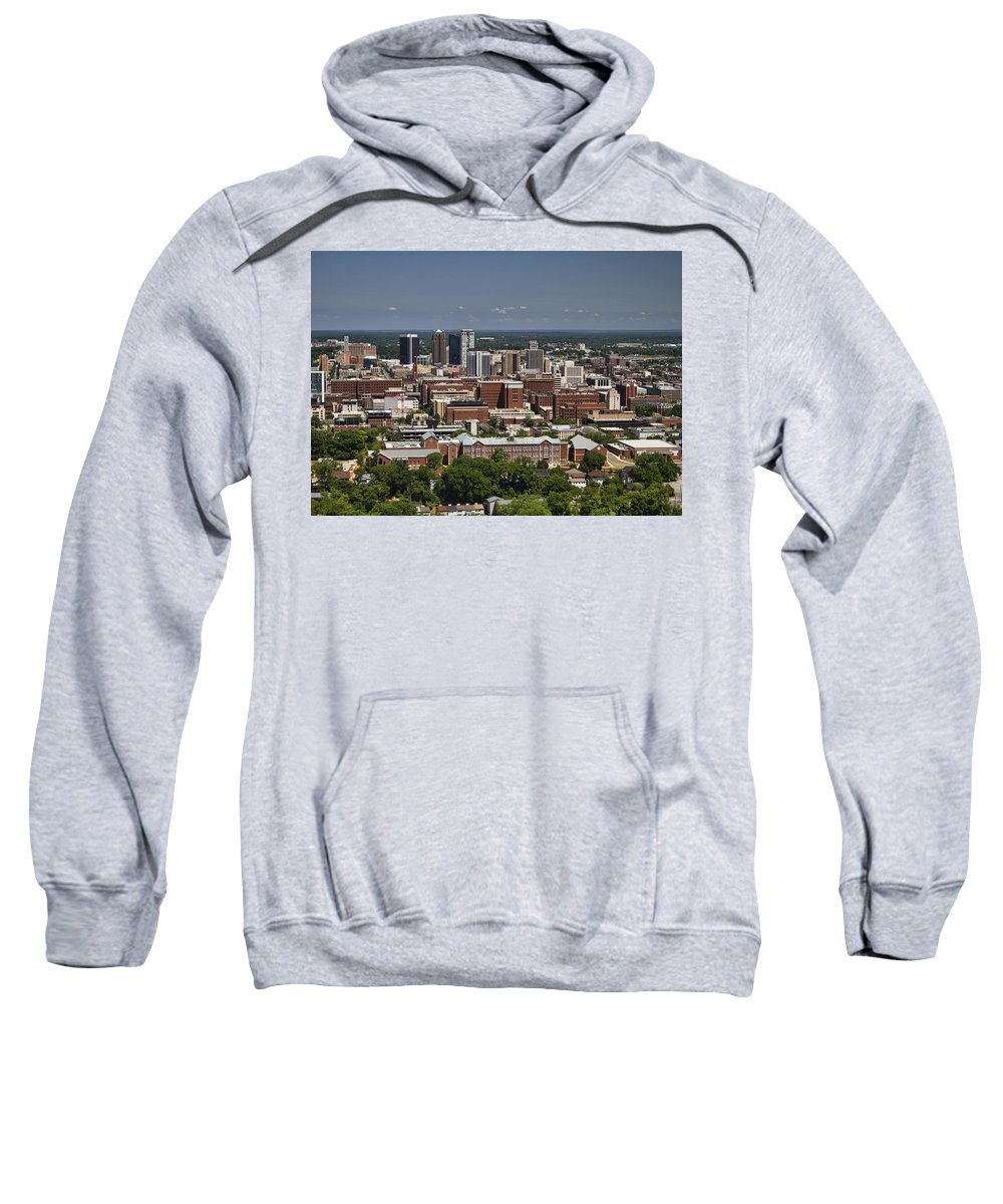 Birmingham Sweatshirt featuring the photograph The City Of Birmingham Alabama Usa by Kathy Clark