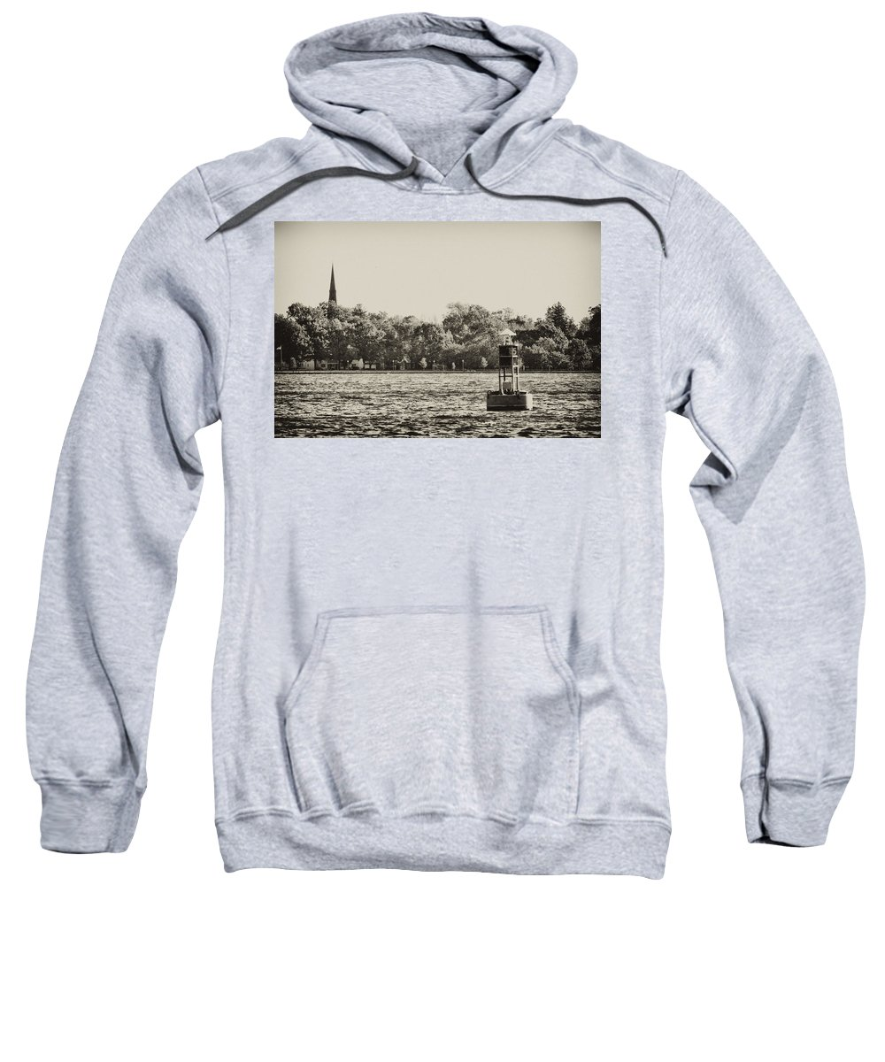 River Sweatshirt featuring the photograph The Delaware River At Bristol by Bill Cannon