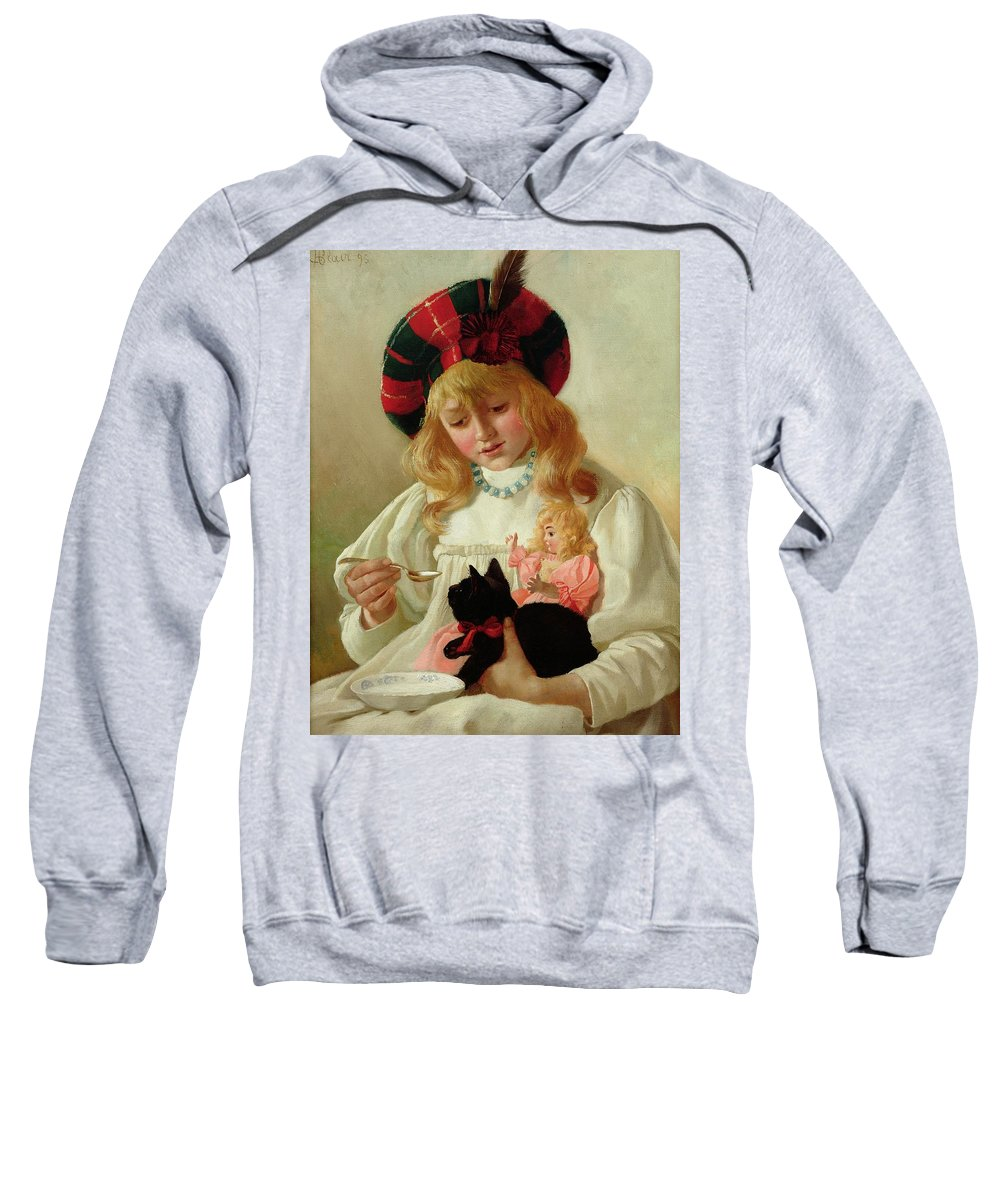 Sweet Sweatshirt featuring the painting The Favorites by CH Blair