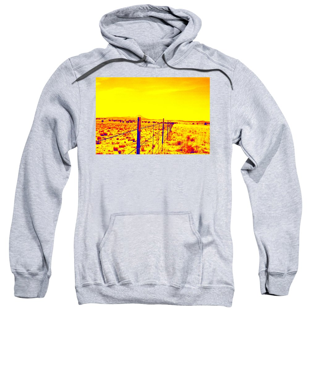 Fence Sweatshirt featuring the photograph The Fence Line by Charles Benavidez