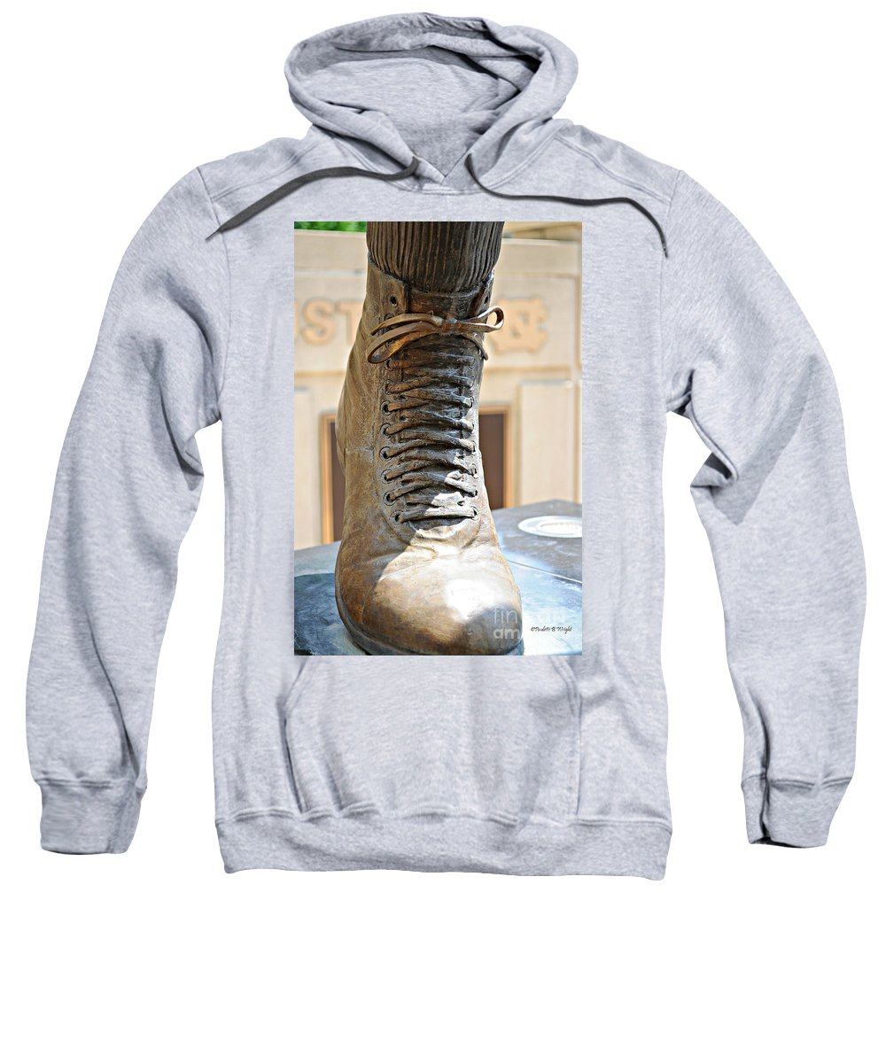 Charlie Sweatshirt featuring the photograph The Foot Of Choo Choo Justice by Paulette B Wright