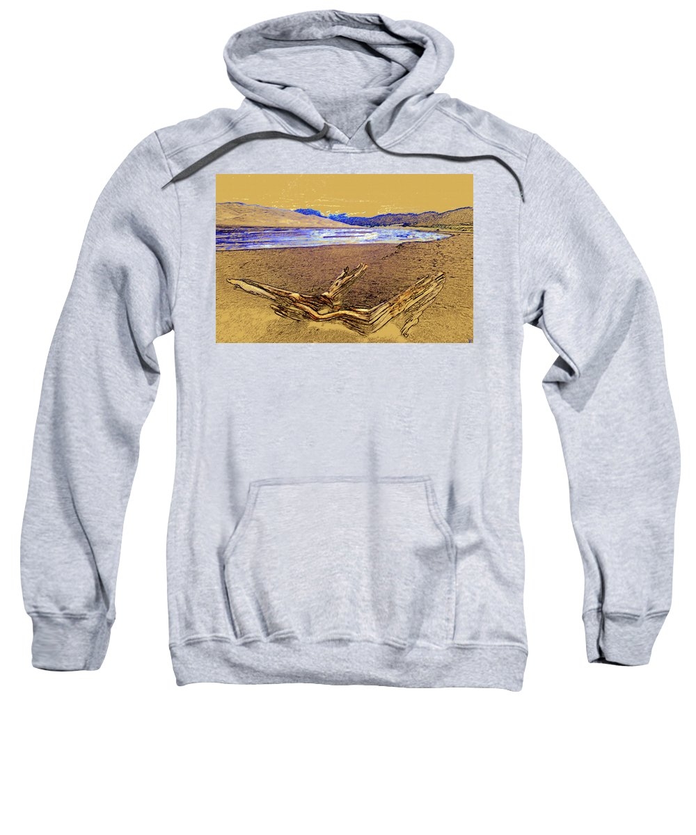 Art Sweatshirt featuring the painting The Great Sand Dunes by David Lee Thompson