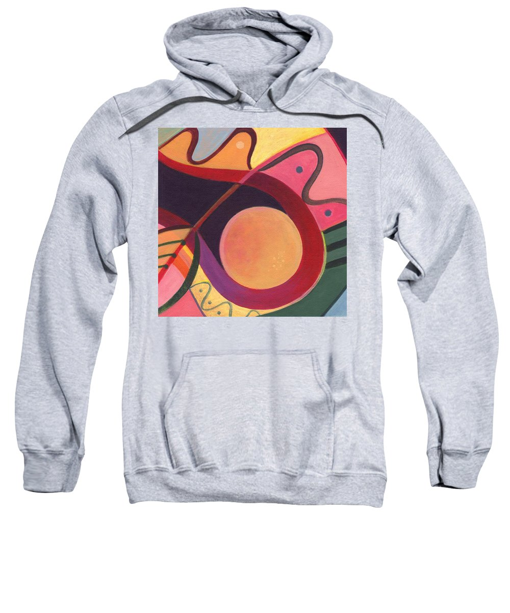 Abstract Sweatshirt featuring the digital art The Joy Of Design I Part Four by Helena Tiainen