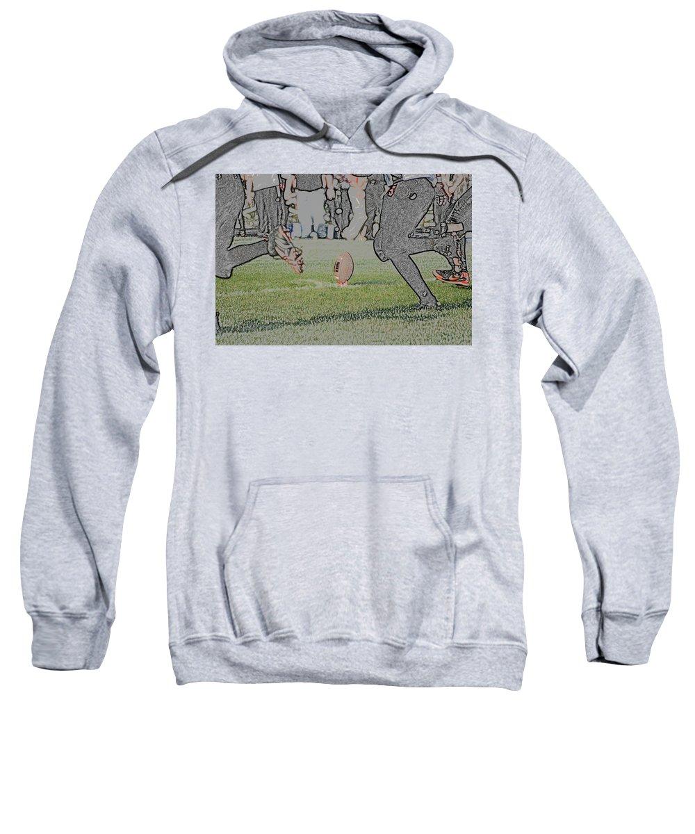 Digital Art Sweatshirt featuring the digital art The Kick Off Digital Art by Thomas Woolworth