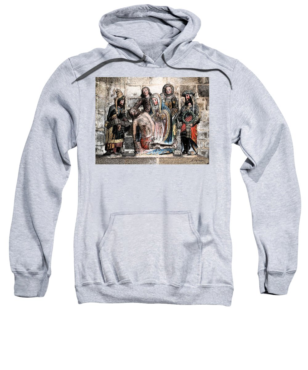 Christ Sweatshirt featuring the photograph The Lamentation Of Christ by Diana Haronis