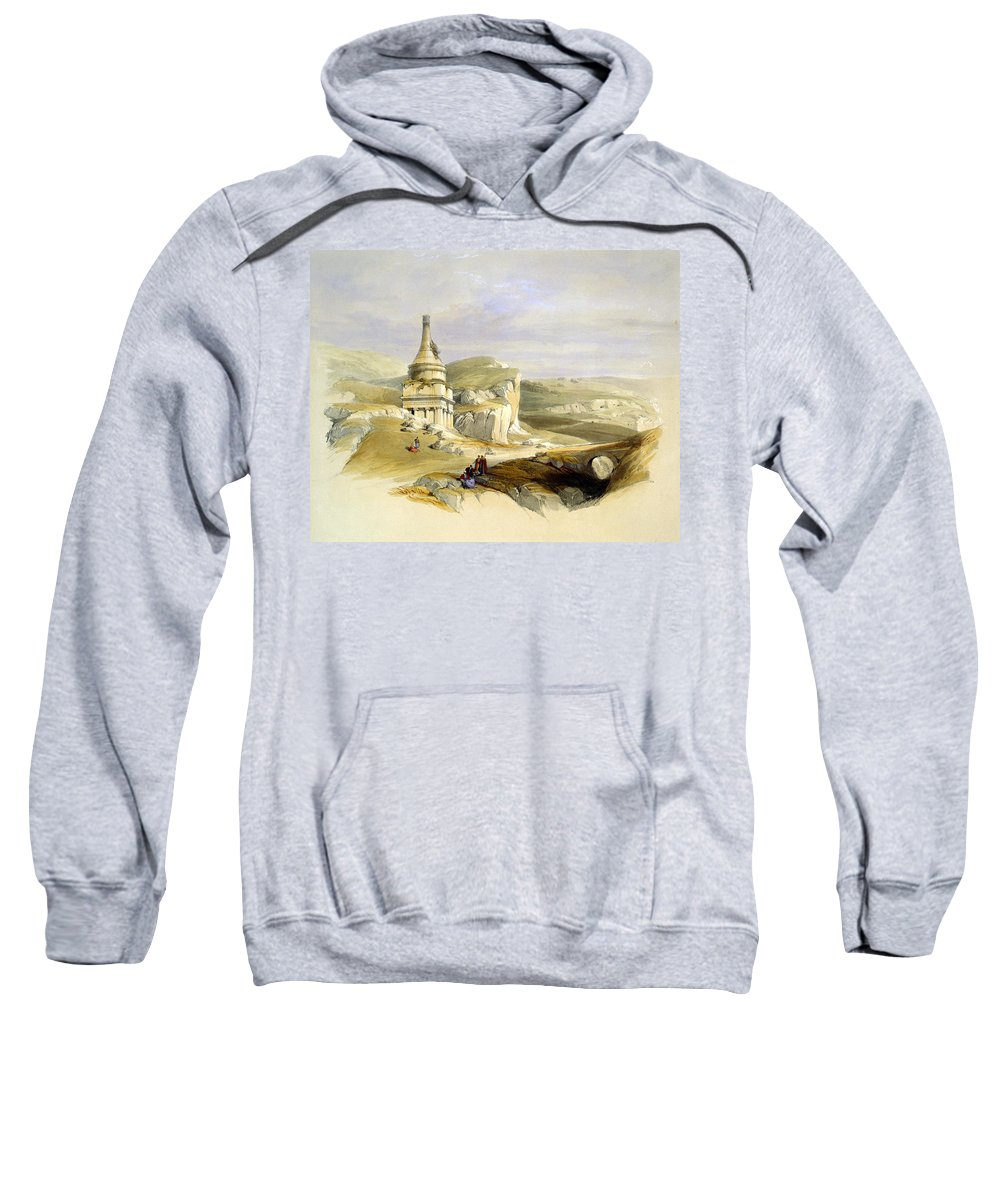 Tomb Sweatshirt featuring the photograph The Legendary Tomb Of David Son by Munir Alawi