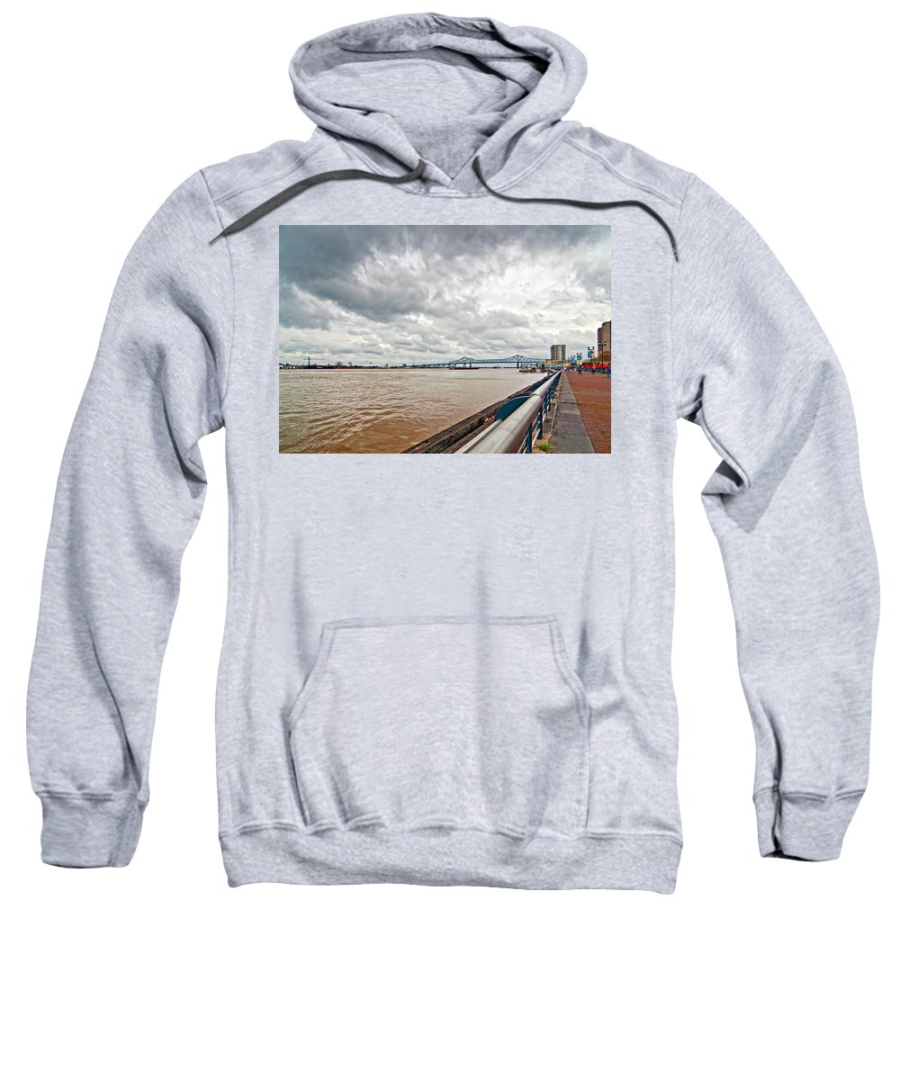 Mississippi River Sweatshirt featuring the photograph The Mighty Miss by Steve Harrington