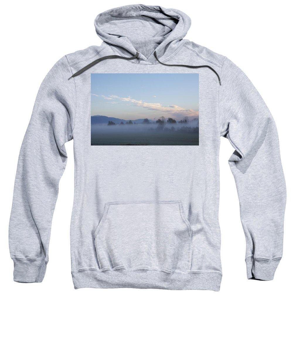 Veneto Sweatshirt featuring the photograph The Morning Fog by Donato Iannuzzi