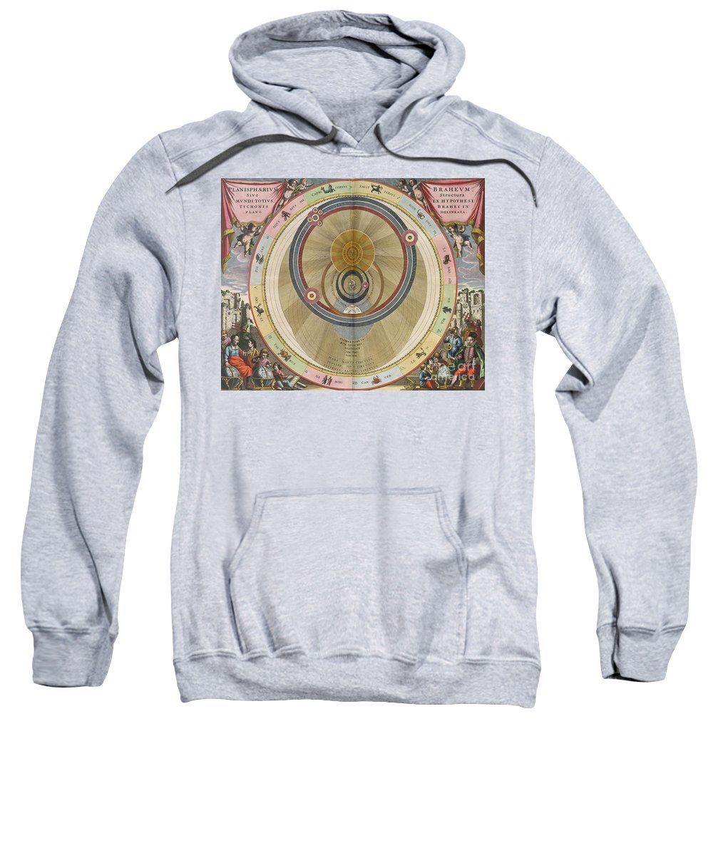 Solar System Sweatshirt featuring the photograph The Planisphere Of Brahe Harmonia by Science Source