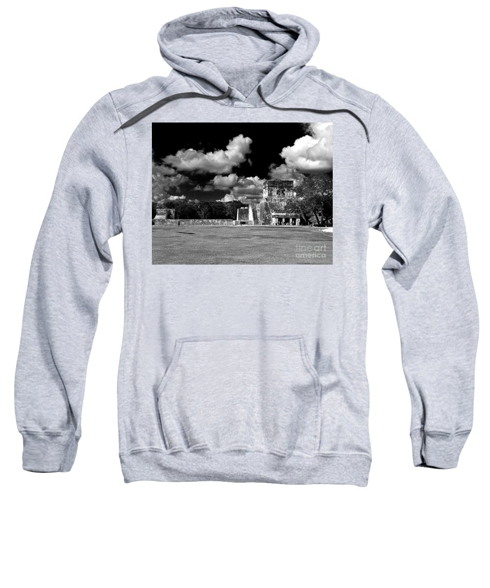 Pyramid Sweatshirt featuring the photograph The Plaza by Ken Frischkorn