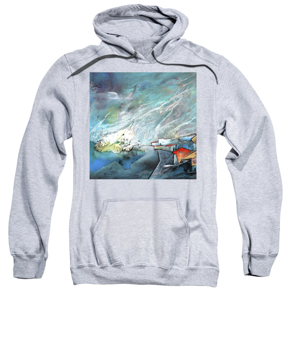 Impressionism Sweatshirt featuring the painting The Shores Of Galilee by Miki De Goodaboom
