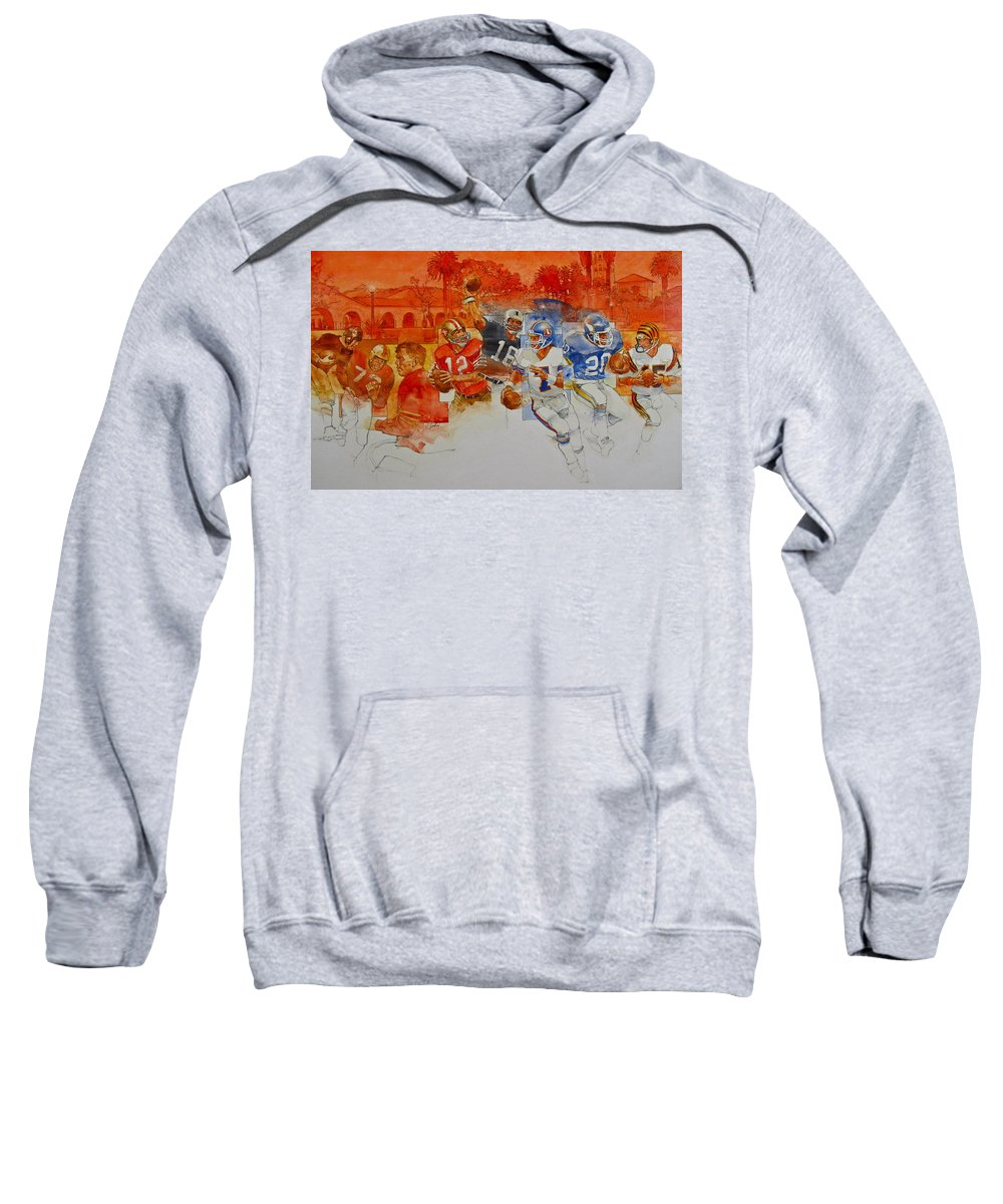 Acrylic Painting Sweatshirt featuring the painting The Stanford Legacy 1 Of 3 by Cliff Spohn