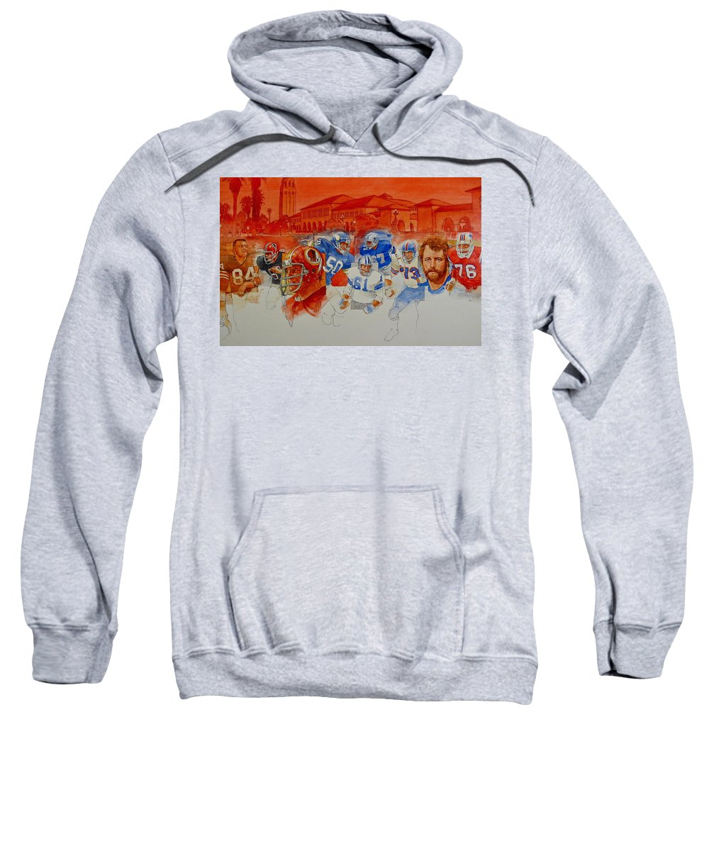 Acrylic Painting Sweatshirt featuring the painting The Stanford Legacy 2 Of 3 by Cliff Spohn