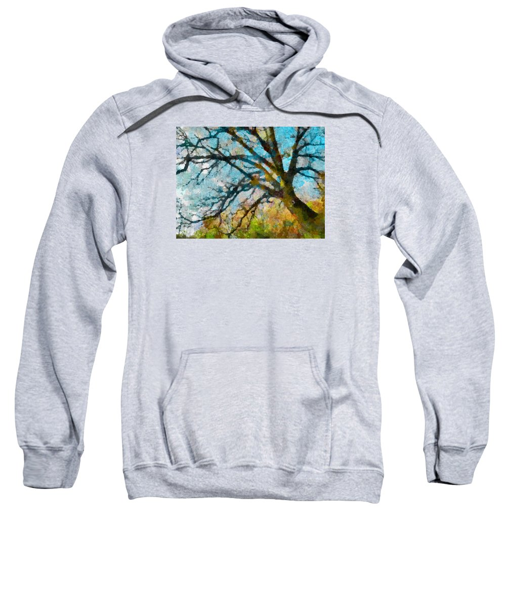 Multicolour Sweatshirt featuring the photograph The Tree Of Many Colours by Steve Taylor