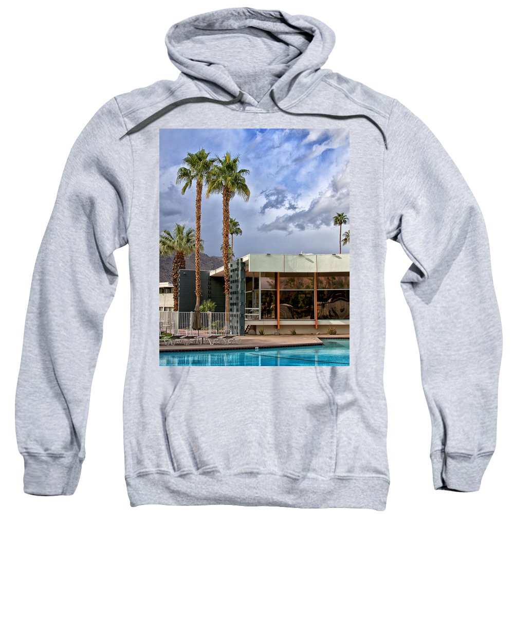 V Sweatshirt featuring the photograph The View Palm Springs by William Dey