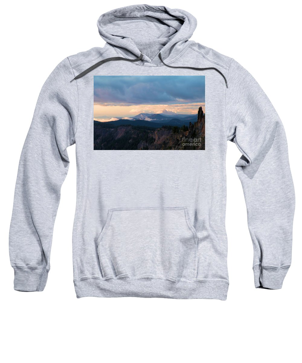 Crater Lake National Park Sweatshirt featuring the photograph The Watchman by Adam Jewell