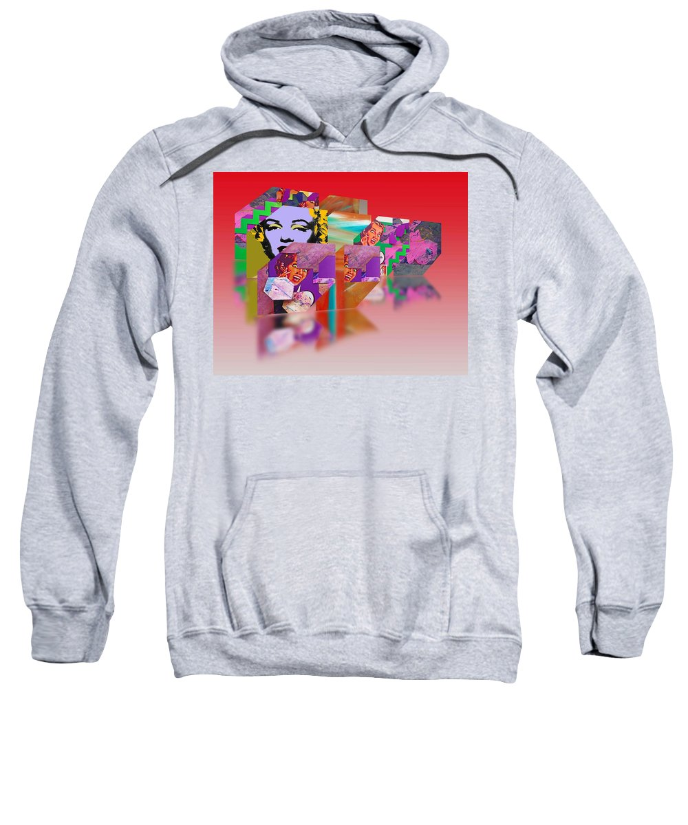 Marilyn Sweatshirt featuring the painting The Way We Paint Now by Charles Stuart