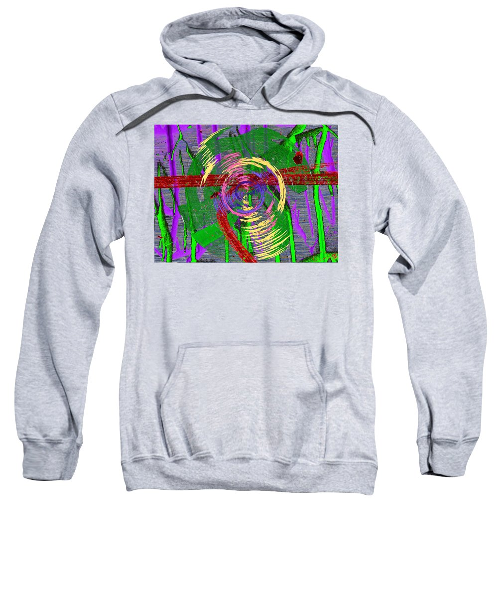 Writing Sweatshirt featuring the digital art The Writing On The Wall 9 by Tim Allen