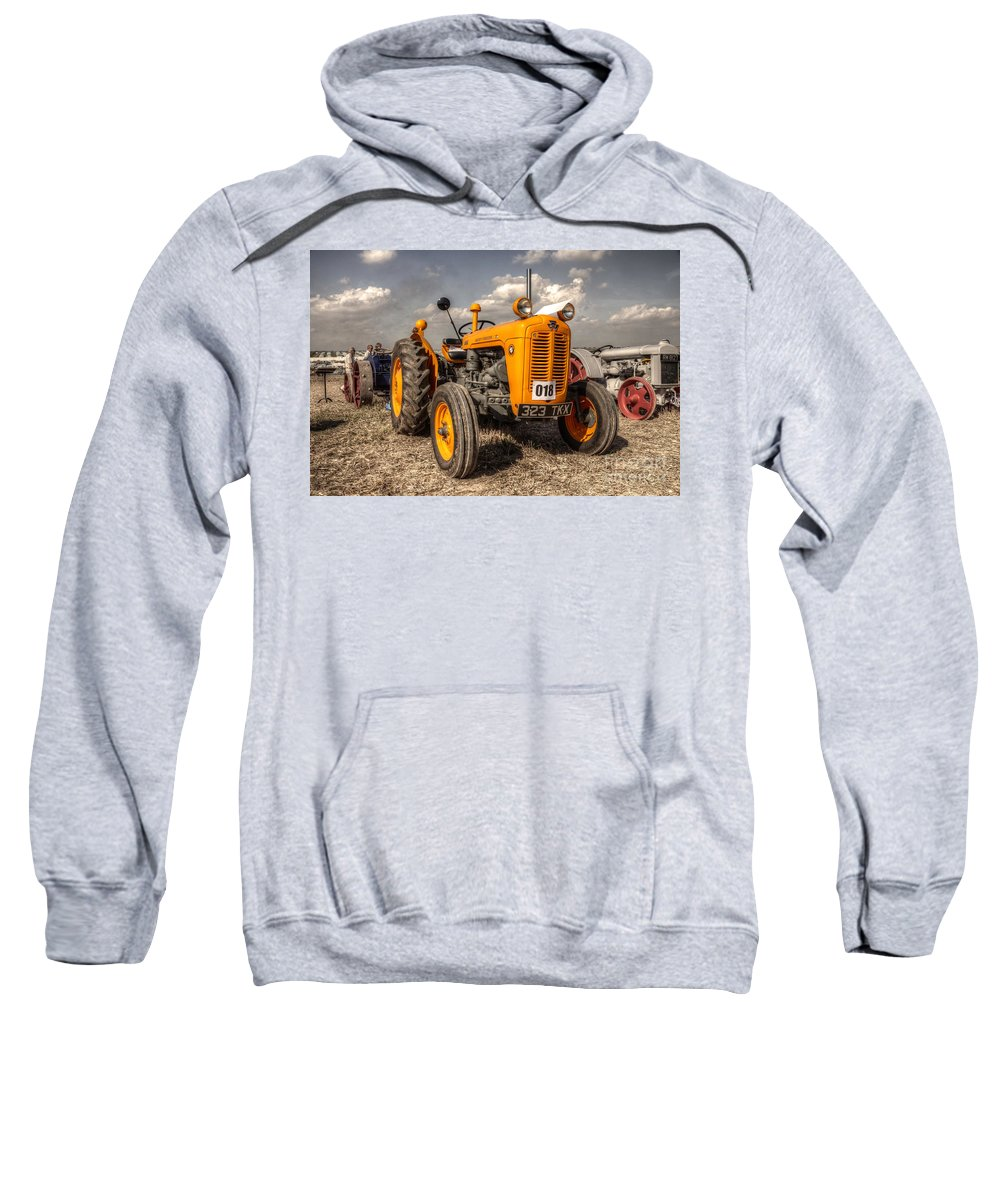 Tractor Sweatshirt featuring the photograph The Yellow 35 by Rob Hawkins