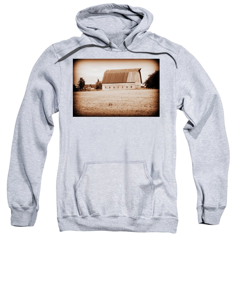 Barn Sweatshirt featuring the photograph This Old Farm II by Kathy Sampson