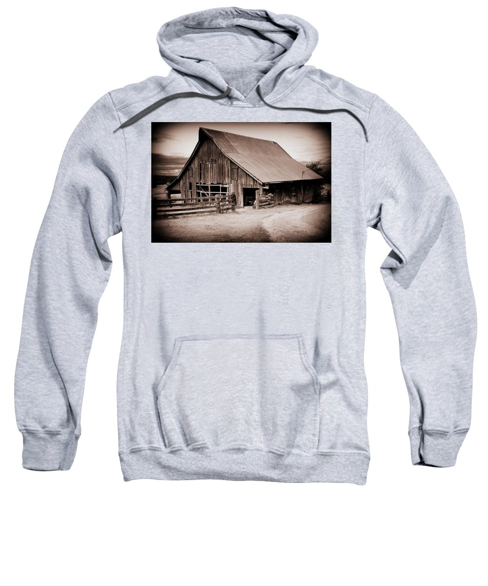 Barn Sweatshirt featuring the photograph This Old Farm by Kathy Sampson