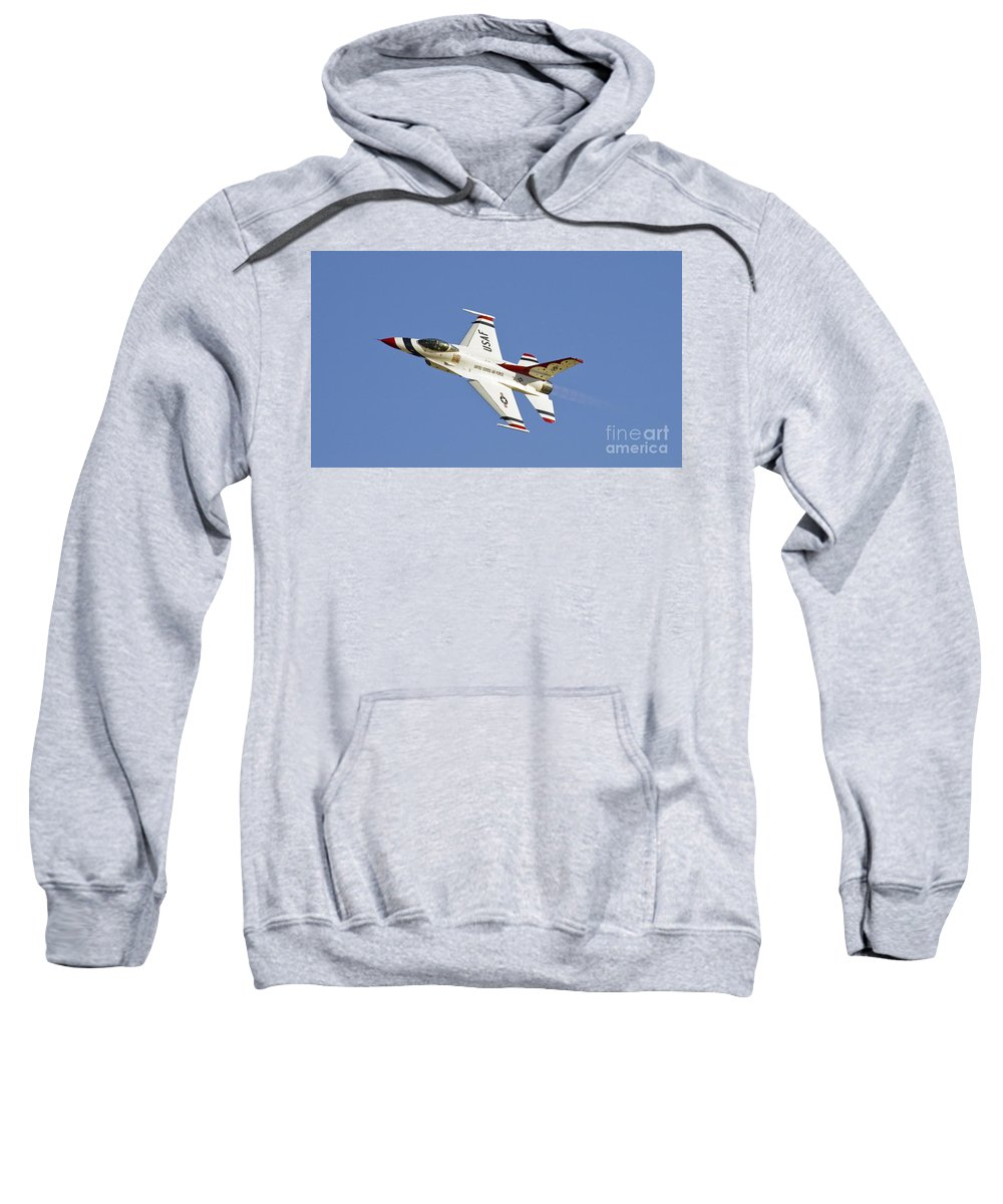 Usaf Sweatshirt featuring the photograph Thunderbird Slats by Tim Mulina