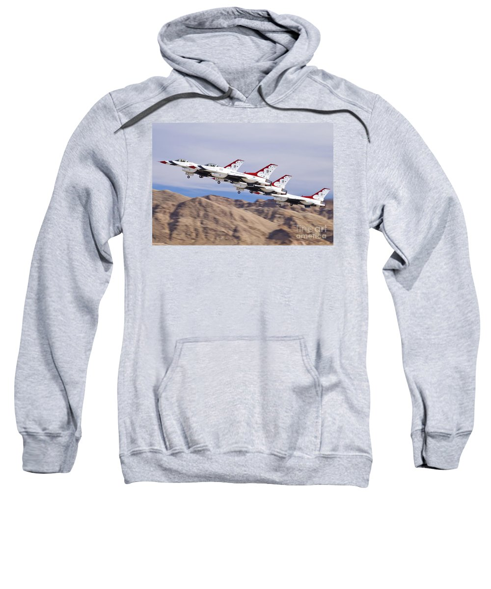 Usaf Sweatshirt featuring the photograph Thunderbirds Gear Up by Tim Mulina