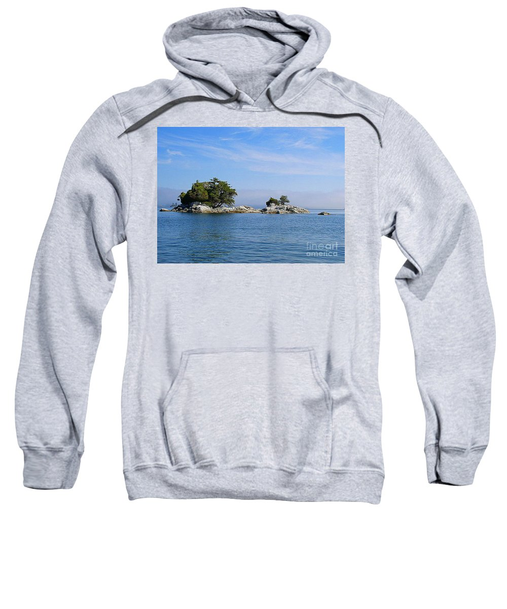 Islands Sweatshirt featuring the photograph Tiny Island Off Vancouver Island by Randy Harris