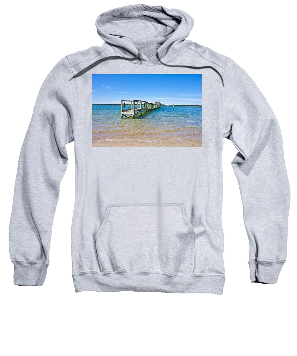 Topsail Sweatshirt featuring the photograph Topsail Island Sound by Betsy Knapp