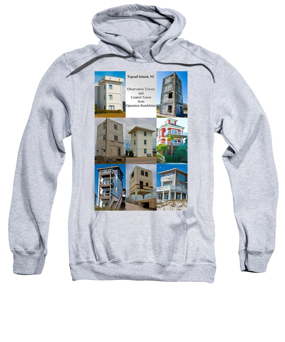 Topsail Sweatshirt featuring the photograph Topsail Island Towers by Betsy Knapp