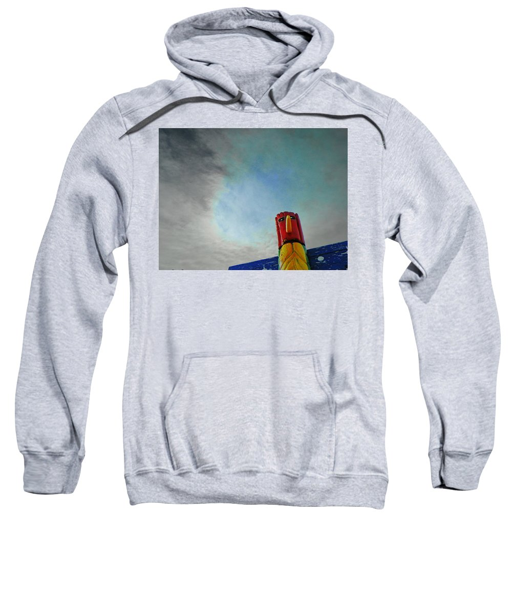 Abstract Sweatshirt featuring the photograph Totem 3 by Lenore Senior