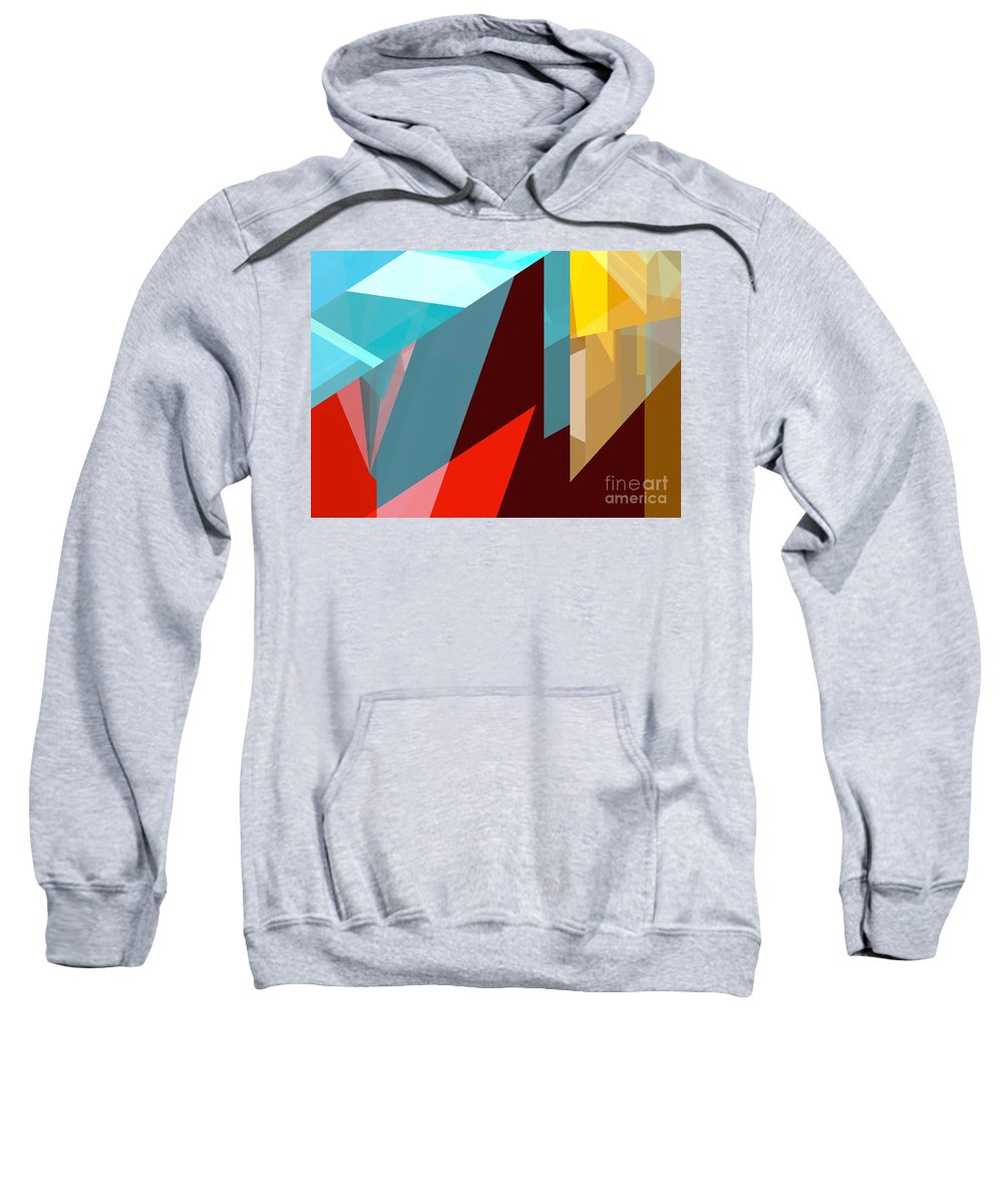 Abstract Sweatshirt featuring the digital art Tower Series 1 by Russell Kightley