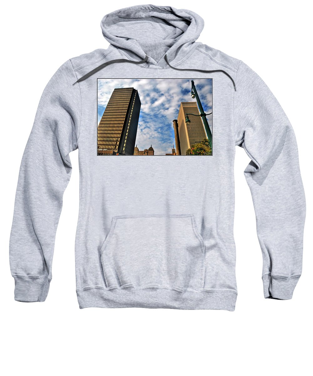 Sweatshirt featuring the photograph Towering Towers by Michael Frank Jr