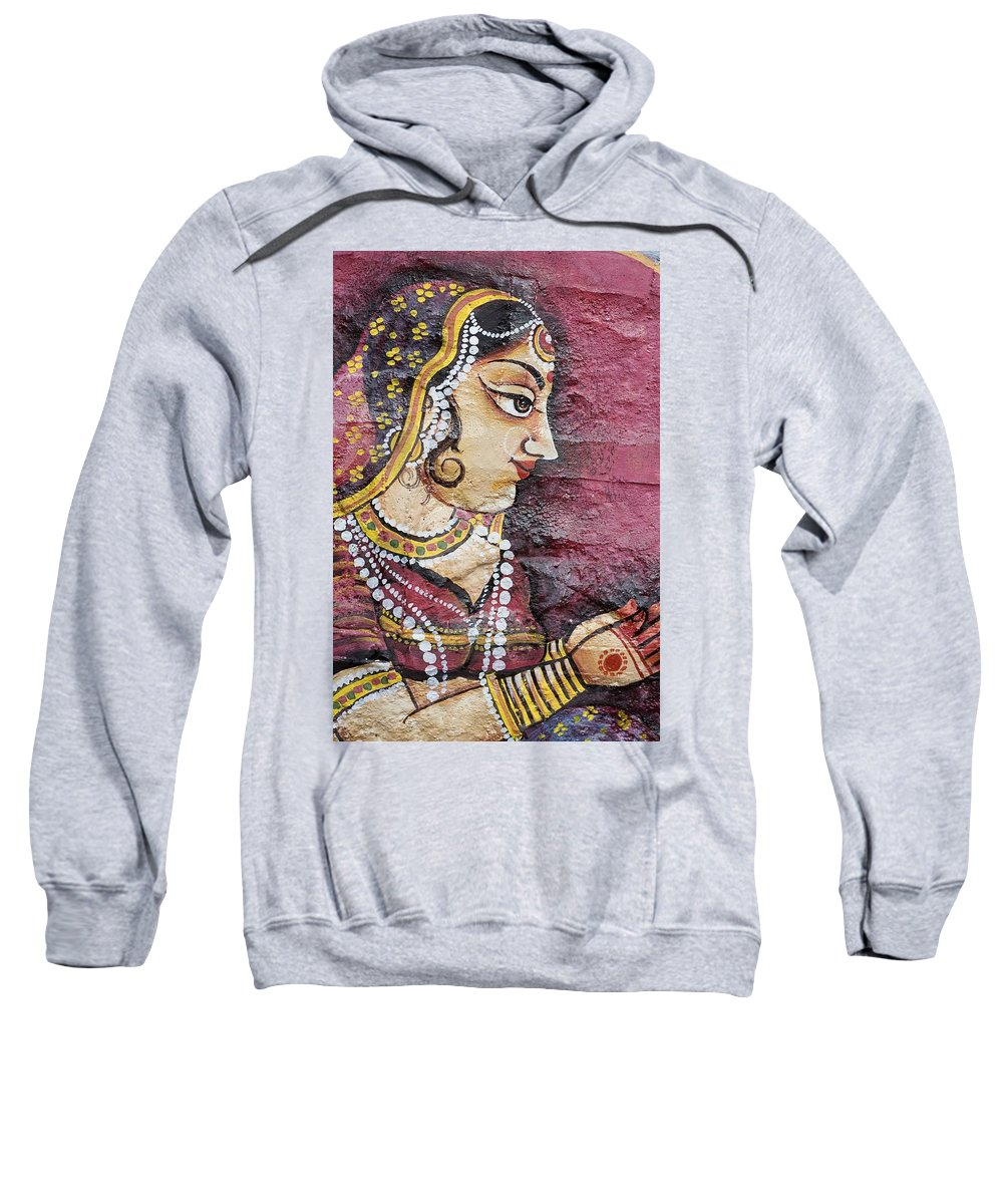 Art Sweatshirt featuring the photograph Traditional Painting On A Wall Jodhpur by David DuChemin
