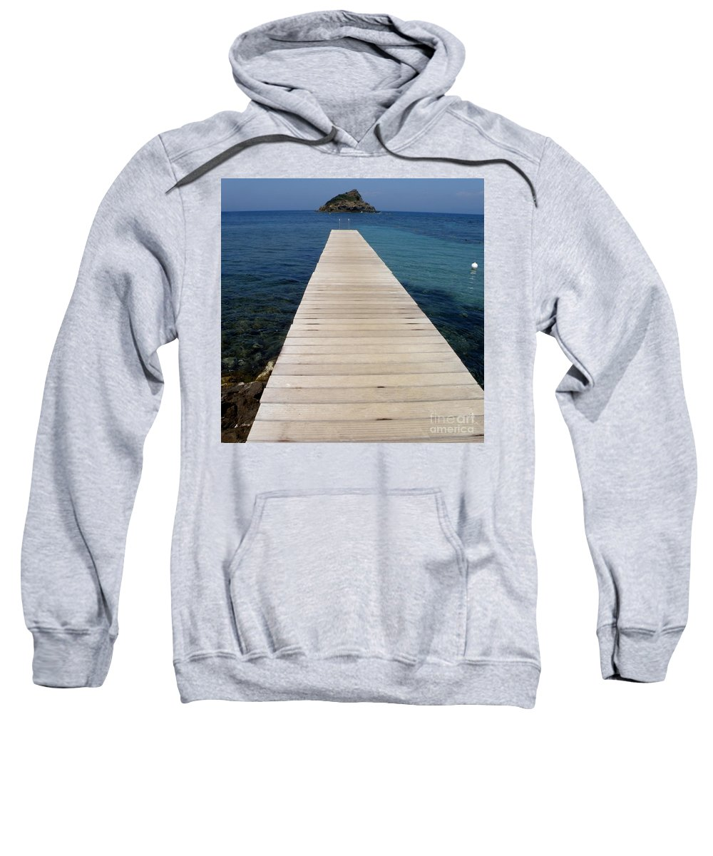 Seascape Sweatshirt featuring the photograph Tranquility by Lainie Wrightson
